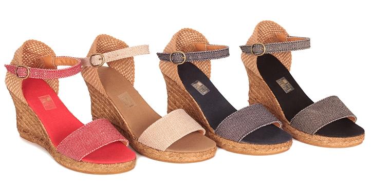 Alpargata sandalia de cuña alta - Colores