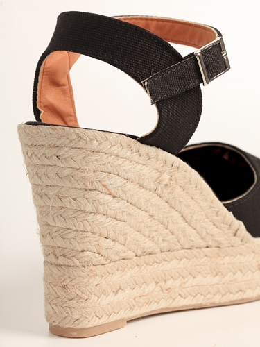 Sandalia lona de cuña alta con plataforma (Mod.52) - Detalle cuña