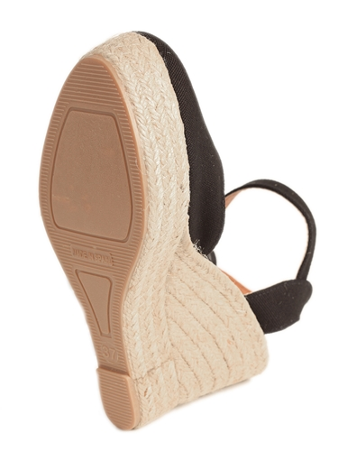 Sandalia lona de cuña alta con plataforma (Mod.52) - Suela