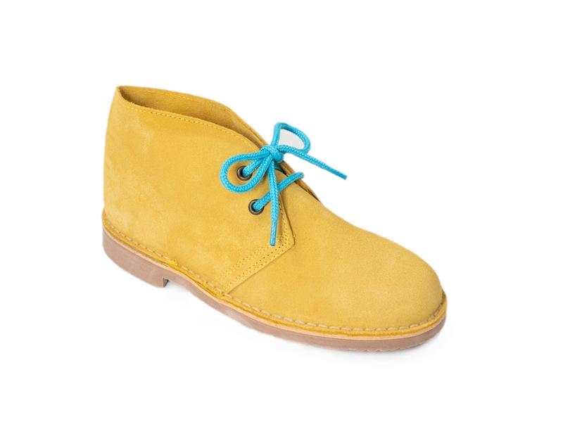 Safari (Pisamierdas) clásico color amarillo con cordón turquesa