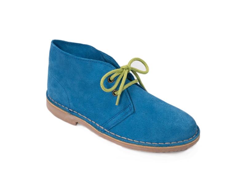 Safari (Pisamierdas) clásico color azulón con cordón pistacho
