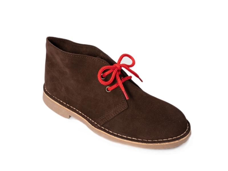 Safari (Pisamierdas) clásico color marrón con cordón rojo