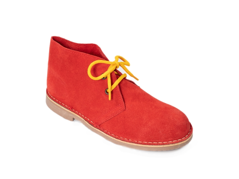 Safari (Pisamierdas) clásico color rojo con cordón amarillo